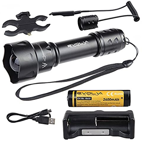 Evolva Future Technology T20 IR 38mm Lens Infrared Light Night Vision Flashlight Torch (Torch+Battery+Charger+Pressure Switch+Scope