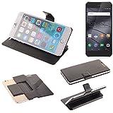 K-S-Trade Schutz Hülle für Gigaset ME Pro Schutzhülle Flip Cover Handy Wallet Case Slim Handyhülle bookstyle schwarz