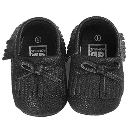 Baby schuhe Jamicy® Baby KrippeTroddeln Bowknot Schuhe Kleinkind Turnschuhe beiläufige rutschfeste Schuhe (0 ~ 6 Monat, Khaki) Schwarz
