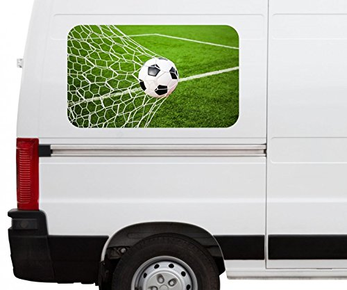 Autoaufkleber Tor Fussball Ball Feld Sport Fußball Car Wohnmobil Auto tuning Digital Druck Fenster Sticker LKW Bild Aufkleber 21B1113, Größe 3D sticker:ca. 120cmx73cm