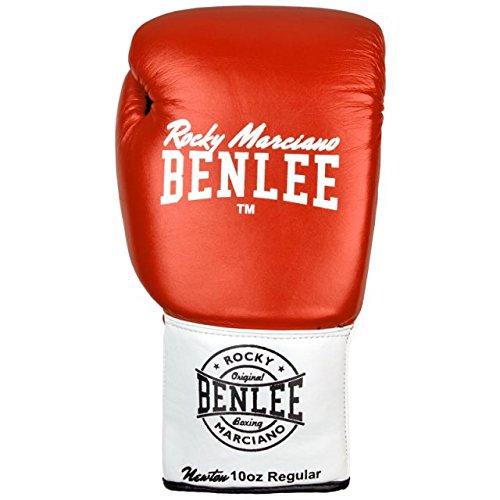 BENLEE Leather Contest Gloves NEWTON - Red/White/Black Größe 10 oz L