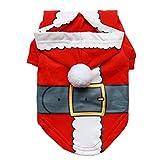YiJee Haustier Freizeit Weihnachten T-Shirts Bekleidung Welpe Hund Warm Hoodie