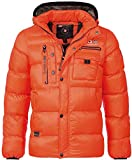 Geographical Norway Herren Stepp Winterjacke Citernier Kapuze orange S