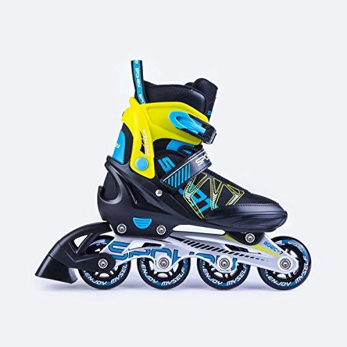 SPOKEY® SPEEDSTAR Inline Skates | Größenverstellbar | Kinder | Damen | Herren | Inliner | Inline Blades | Aluminium Schiene | ABEC7 Karbon | Größen 33-36 / 37-40 / 40-43