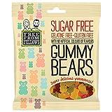 Gummy Bears - Sugar, Gelatine & Gluten Free Jellies Sweets 100g (Pack of 1)