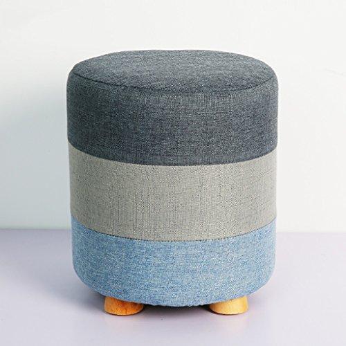 Haute élastique éponge chaussures tabouret amovible et lavable ensembles de solide bois tabouret fort portant petit tabouret (Color : Gray, Size : 28 * 28 * 32cm)