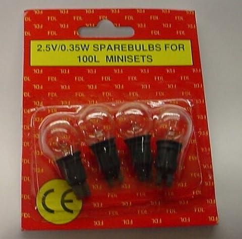 4 Poussée Dans Ampoules Disponibles pour la Baie Lumière Série 2.5v 0.35w à 100 pièces 0.14a ECLAIRCIT (S19)
