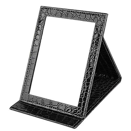 BaoCore Miroir de Maquillage Miroir Pliant Portatif Miroir de Rasage Housse en PU Cosmétique Beauté Personnelle Portable 15*20.5*1.6CM