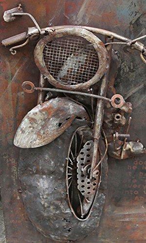 The Wood Times Wandbild XXL 3D Metallbild Motorbike Metallbild Modern, BxHxT 70x140x3 cm - 2
