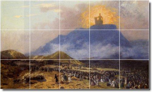 JEAN GEROME HISTORICA DUCHA MURAL DE AZULEJOS 6  24X 40CM CON (15) 8X 8AZULEJOS DE CERAMICA