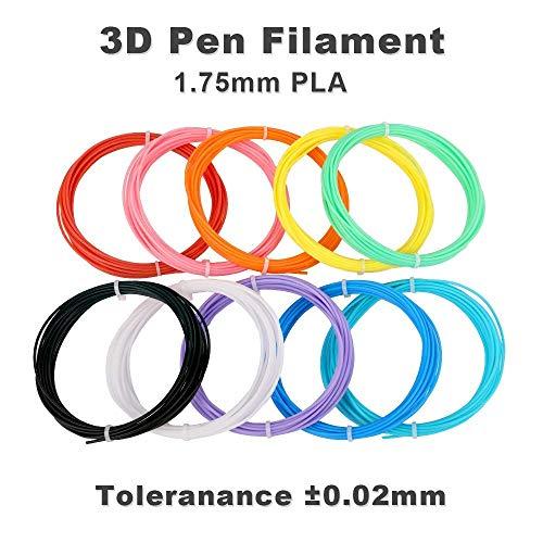 Stylo 3D avec Écran LCD, Fede Stylo d'Impression 3D avec 12*3M Fils multicolores Filament PLA de 1.75 mm (36 Mètres au total), cadeau...