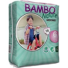 Bambo Nature Toilet Training Pull Up Pants, X-Large, Size 6 - Pack of 18