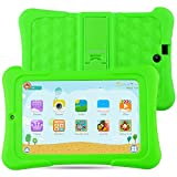 Alldaymall Kinder Tablet PC - 7 zoll IPS( 16GB ROM+1GB RAM, HD 1920x1200, Wi-Fi, Android 5.1, Quad Core, Bluetooth, OTG ) - (with Silikon Adjustable Stand Case) [2017 New Model] - Grün