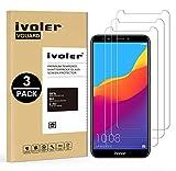 iVoler [3 Stücke] Panzerglas Schutzfolie für Huawei Honor 7C / Huawei Y7 2018 / Huawei Y7 Prime 2018 / Huawei Y7 Pro 2018, 9H Härte, Anti- Kratzer, Bläschenfrei, [2.5D R&e Kante]