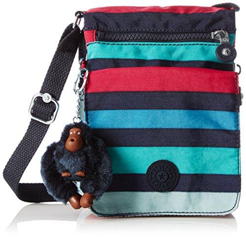 Kipling Eldorado, Damen Umhängetasche, Multicolour (Spicy Stripes), 15x19.5x2 cm (W x H x L) (E/w-cross-body-organizer)