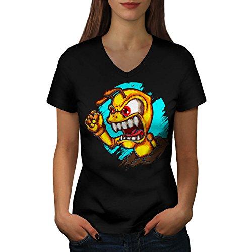 ameise-wutend-monster-seltsam-damen-neu-schwarz-xl-t-shirt-wellcoda