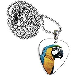 Parrot Guitare Mediator Pick Collier Necklace (GD)