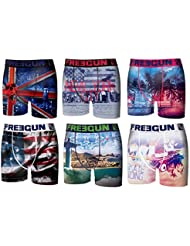 Freegun - lot de 6 boxers homme
