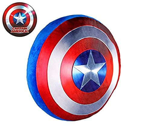 826148 Soft Cushion 3d Captain America Shield Diameter 37 cm. Media Wave