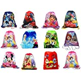 Jiada Cartoon Printed Kids Haversack Bags - Pack Of 12