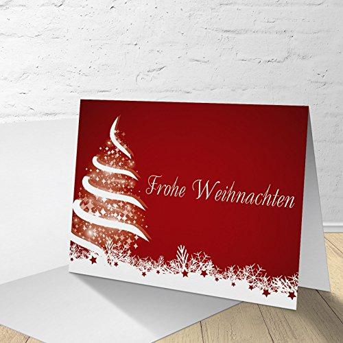 """5 Weihnachtskarten mit Umschläge, Klappkarte mit """"Weihnachtsbaum"""" Motiv (5 Stück im Set)"""