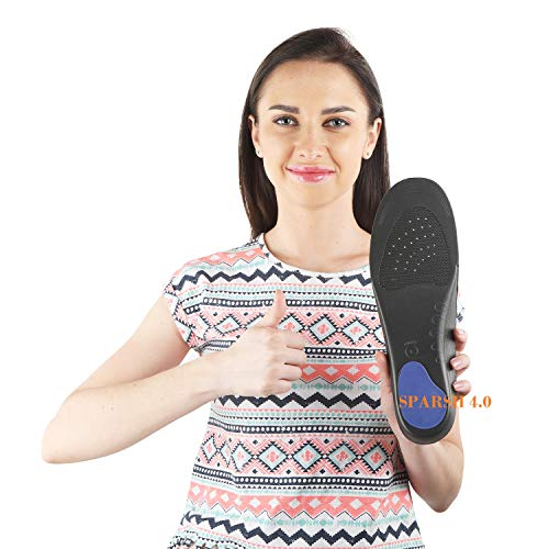 SPARSH 4.0 Unisex Foam and EVA Insoles for Flat Feet Correction and Pain Relief (Grey and Black)