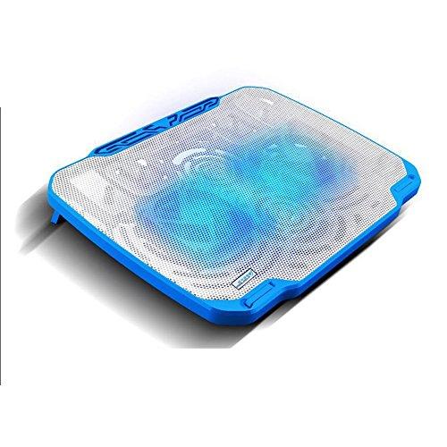 Sumferkyh Laptop-Kühler-Kühlkissen Acryl Kuchen Cut Karte abstrakte Geweih Kuchen Karte Hochzeit Geburtstag Party Dekoration Einfaches und benutzerfreundliches Design (Farbe : Blau)