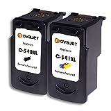 Novajet Ersatz für Canon PG-540XL CL-541XL Druckerpatronen Combo-Paket, Hohe Kapazität, für Canon Pixma MG2100 2150 2200 3100 3150 3200 MX375 435 475 515 525