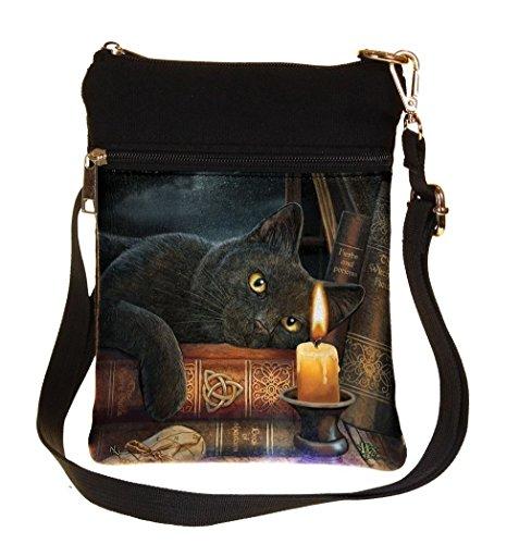 Die Hexenstunde - Katze mit Kerze Umhängetasche Multicolours - Fantasy - Nemesis Now (Handtasche Klein Anne)