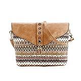 Sac à bandoulière, LHWY Les femmes à la mode les sacs à main d'impression de fleur de modèle doux sac d'épaule (Marron)