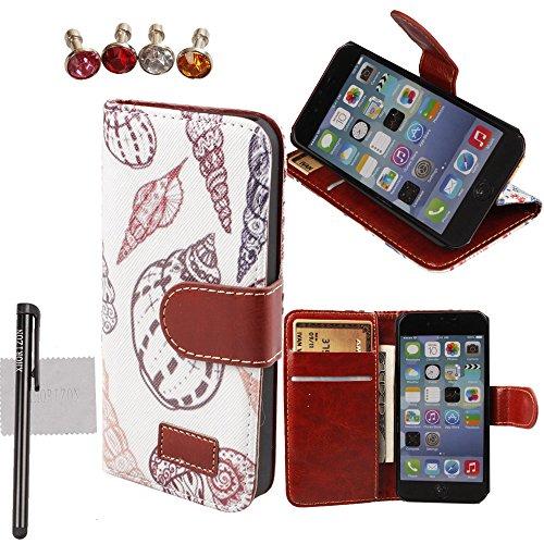 """xhorizon® Neu Blume Blatt Stil Brieftasche Folio Flip Magnetic Ständer Leder Tasche Case Hülle mitKreditkarteninhaber für 4.7"""" iPhone 6 #15"""