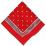 Betz Nickituch Bandana Kopftuch Halstuch klassischem Punktemuster Größe 55 x 55 cm 100% Baumwolle Farbe rot