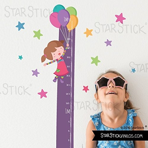 StarStick - Medidor Niña globos colores - Vinilos