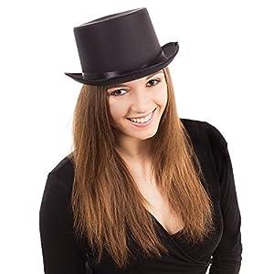 Top hat (fabric, with black ribbon) - Black (gorro/sombrero)