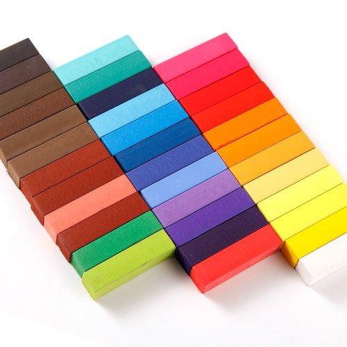 Haarkreide-Set mit 36 Farben für den Heimgebrauch, ungiftig, auswaschbar, Pastellfarben - 3