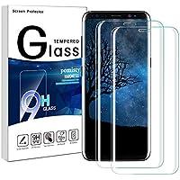 Galaxy S8 Plus Lot de 2 Films de Protection d'écran en Verre trempé pour Samsung Galaxy S8 Plus Dureté 9H Anti-Rayures Anti-Traces de Doigts Protection d'écran complète pour Samsung Galaxy S8 Plus