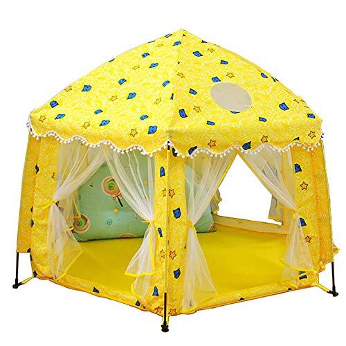 Parc à bébé Hexagon Spielzelt - Kinder Indoor Outdoor Spielhaus Play Kinder Secret Game Castle (Farbe : Gelb) - Hexagon Hängen