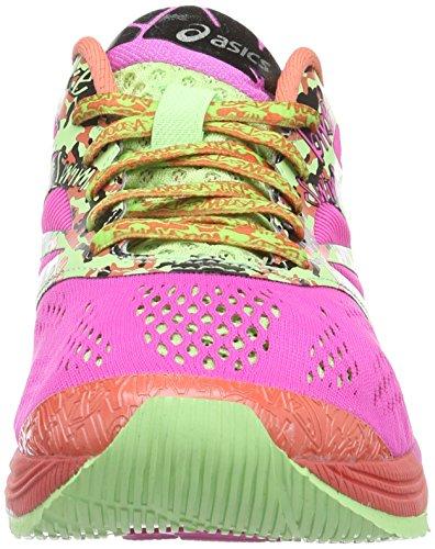ASICS Gel-Noosa Tri 10, Damen Laufschuhe Training Koral / Grün / Pink