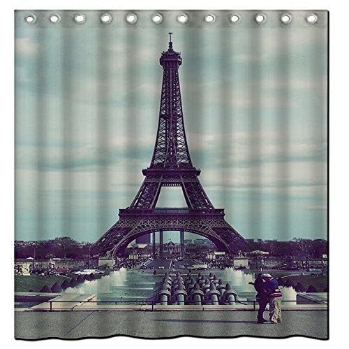 Custom Thanksgiving Day 01Wasserdicht Polyester Stoff Bad Duschvorhang? 183cm von 183cm, Paris city, 72 x 72-Inch (Stoff Dusche Vorhang Tiere)