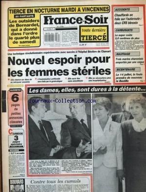 FRANCE SOIR [No 13624] du 30/05/1988 - A...