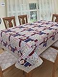 #7: Clasiko 6 Seater PVC Table Cover; Multicolor Checks & Floral; Anti Slip; 60x90 Inches; 6 Seater
