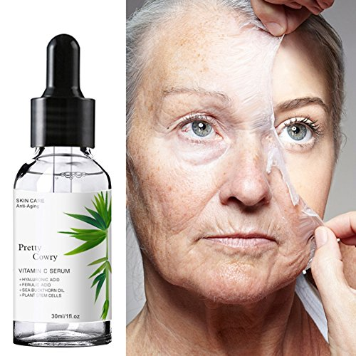 Advanced Antioxidant Serum for Face, KISSION Ferulic Acid + Hyaluronic Acid - Anti Wrinkle, Anti Aging Serum, Bright White For A Radiant & More Youthful Glow (30ml) (A2) -