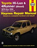 Toyota Hi-Lux and 4 Runner (diesel) Australian Automotive Repair Manual: 1979 to 1996 (Haynes Automotive Repair Manuals)