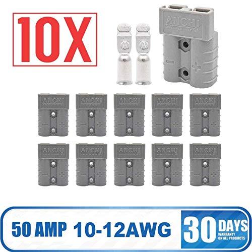KOKO Zhu 10 Stücke Für Auto Van Batterieanschluss 600 V 50Amp Batterie Schnellanschluss Steckverbinder-10 AMG (Weiß) -
