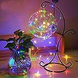 ODJOY-FAN 1 Stück 20mx200 LED Beleuchtung Zeichenfolge, Garten Parteien Dekorativ String Lights Wasserdicht Licht 24 Schlüssel Fernbedienung LED Licht Kupferkabel Licht (Multicolor,1 PC)
