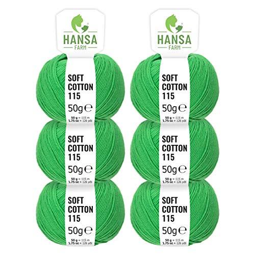 Fairwool: ¡100 % algodón en un práctico paquete de 300 g! (6 madejas de 50 g) Resumen de todas las ventajas:  ¡Extraordinaria comodidad gracias a sus fibras naturales increíblemente suaves! Ligereza y suavidad sin igual sobre la piel. Excelente longe...