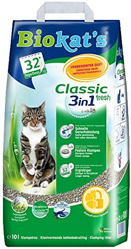 Biokat's Classic 3in1 Cat Litter without fragrance clumping litter for cats with 3 different grain sizes / 1 paper bag… 1
