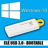 Windows 10 - Home & Pro - Francés - 32 & 64 bits - Pendrive 3.0 - 8 Go - Instalar, restore, repair