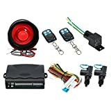 Docooler Car Alarm + 2 Door Remote Central Locking Kit with Shock Sensor,Immobiliser