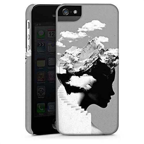 Apple iPhone X Silikon Hülle Case Schutzhülle Silhouette Kopf Wolken Premium Case StandUp